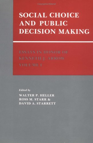 9780521304542: 001: Essays in Honor of Kenneth J. Arrow: Volume 1, Social Choice and Public Decision Making
