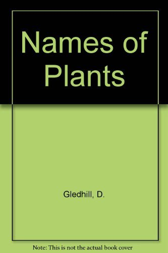 9780521305495: Names of Plants