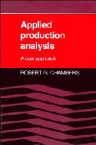 9780521306997: Applied Production Analysis: A Dual Approach