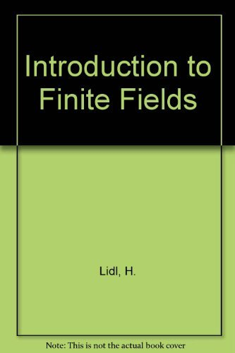 9780521307062: Introduction to Finite Fields and Their Applications