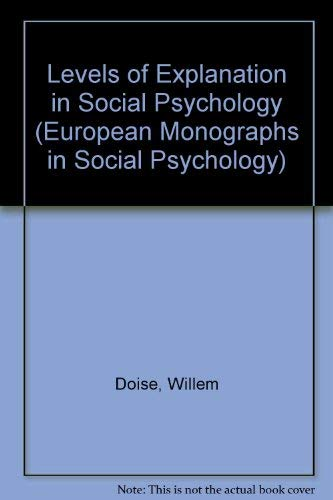 9780521307482: Levels of Explanation in Social Psychology (European Monographs in Social Psychology)