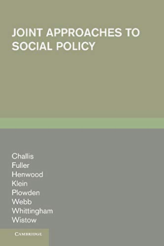 9780521309004: Joint Approaches to Social Policy: Rationality and Practice
