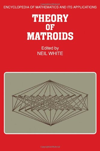 9780521309370: Theory of Matroids (Encyclopedia of Mathematics and its Applications)