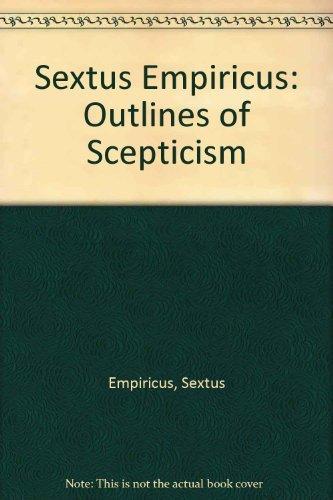 9780521309509: Sextus Empiricus: Outlines of Scepticism