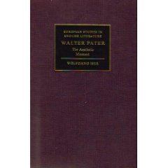 Walter Pater: The Aesthetic Moment (European Studies in English Literature) (9780521309622) by Iser, Wolfgang