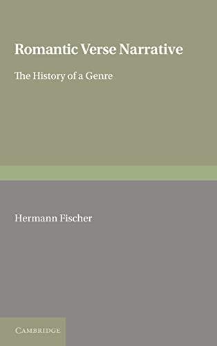9780521309646: Romantic Verse Narrative: The History of a Genre (European Studies in English Literature)