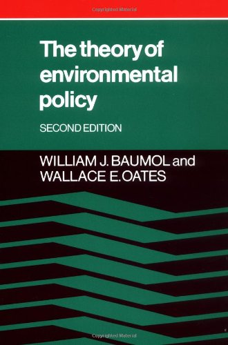 The Theory of Environmental Policy (0521311128) by Baumol, William J.; Oates, Wallace E.