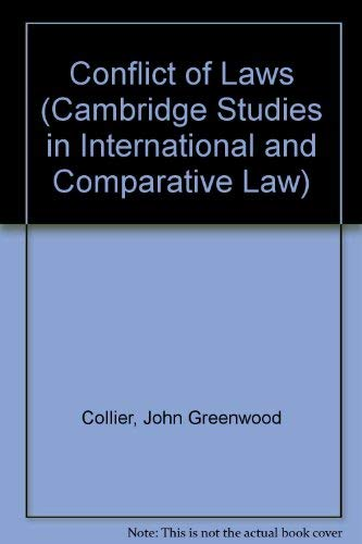 9780521311878: Conflict of Laws (Cambridge Studies in International and Comparative Law)