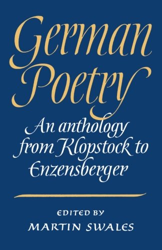 9780521312646: German Poetry: An Anthology from Klopstock to Enzensberger (German Edition)