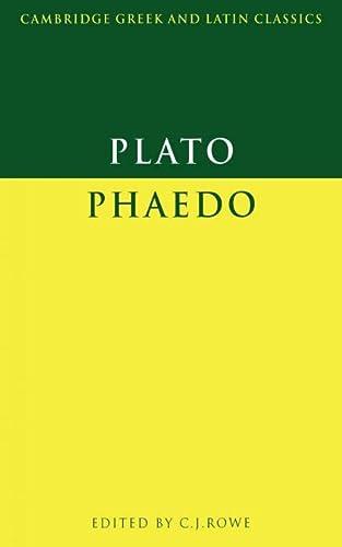 9780521313186: Plato: Phaedo Paperback (Cambridge Greek and Latin Classics)