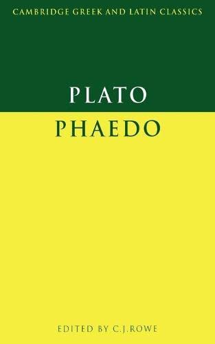 9780521313186: Plato: Phaedo (Cambridge Greek and Latin Classics) (Greek Edition)