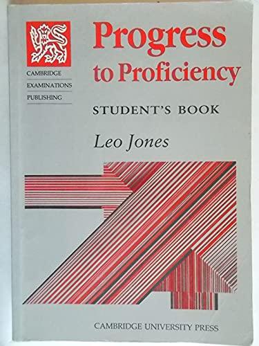 9780521313421: Progress to Proficiency Std Book