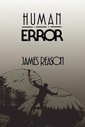 9780521314190: Human Error Paperback