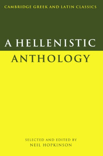 9780521314251: A Hellenistic Anthology (Cambridge Greek and Latin Classics)