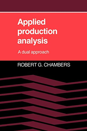 9780521314275: Applied Production Analysis Paperback: A Dual Approach