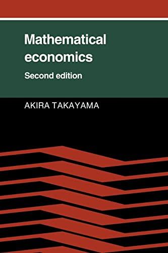 9780521314985: Mathematical Economics