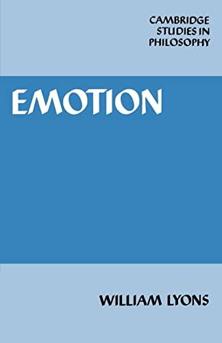 9780521316392: Emotion Paperback (Cambridge Studies in Philosophy)