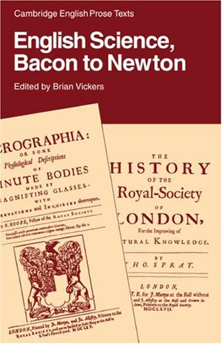 9780521316835: English Science: Bacon to Newton Paperback (Cambridge English Prose Texts)