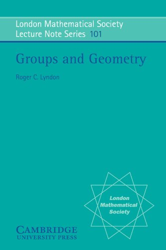 9780521316941: Groups and Geometry (London Mathematical Society Lecture Note Series)