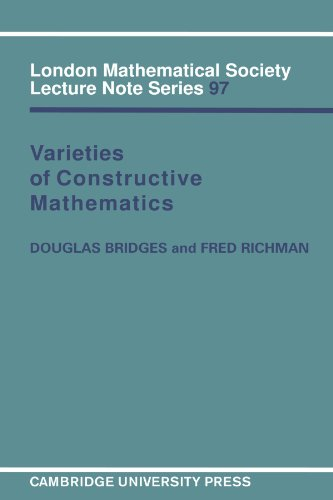 9780521318020: Varieties of Constructive Mathematics