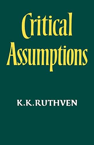 9780521318464: Critical Assumptions