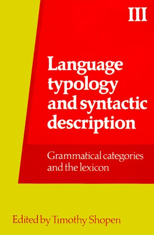 9780521318990: Language Typology and Syntactic Description: Volume 3