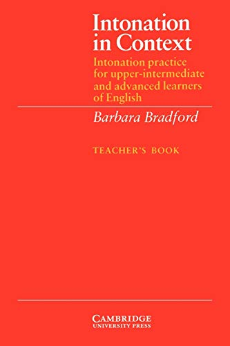 9780521319157: Intonation in Context Teacher's book: Intonation Practice for Upper-intermediate and Advanced Learners of English: Tchrs'