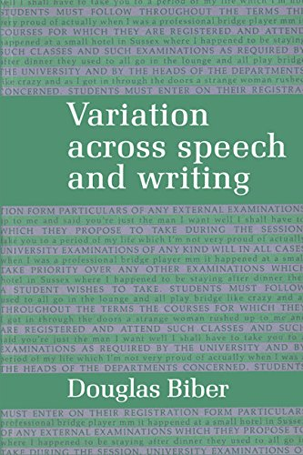 9780521320719: Variation across Speech and Writing