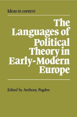 9780521320870: The Languages of Political Theory in Early-Modern Europe