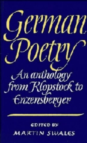 9780521321167: German Poetry: An Anthology from Klopstock to Enzensberger (German Edition)