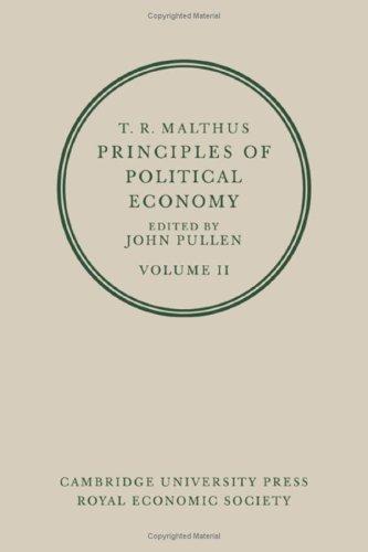 Malthus Principles of Political Economy: Pullen