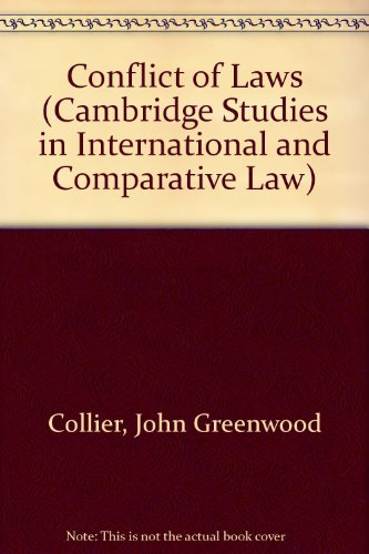 9780521323956: Conflict of Laws (Cambridge Studies in International and Comparative Law)