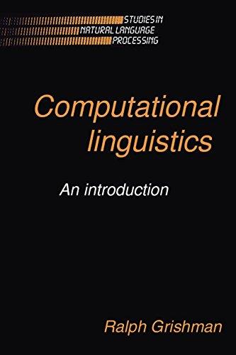 9780521325028: Computational Linguistics: An Introduction (Studies in Natural Language Processing)