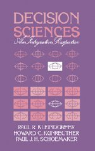 9780521328678: Decision Sciences: An Integrative Perspective