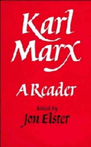 9780521329217: Karl Marx: A Reader