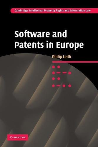 9780521329620: Software and Patents in Europe (Cambridge Intellectual Property and Information Law)