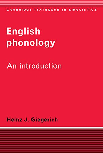 9780521333030: English Phonology: An Introduction (Cambridge Textbooks in Linguistics)