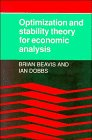 9780521333078: Optimisation and Stability Theory for Economic Analysis