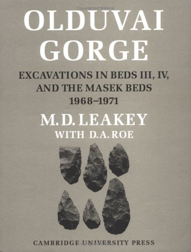 9780521334037: Olduvai Gorge: Excavations in Beds III, IV and the Masek Beds, 1968-1971