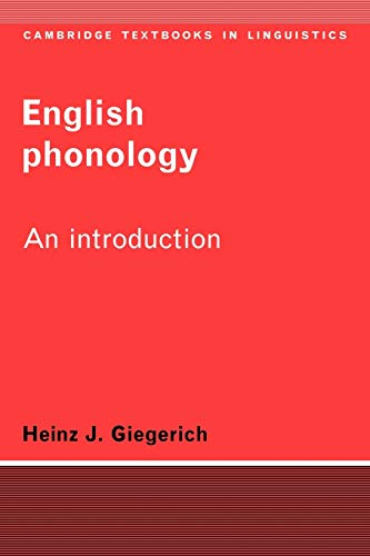 9780521336031: English Phonology Paperback: An Introduction (Cambridge Textbooks in Linguistics)
