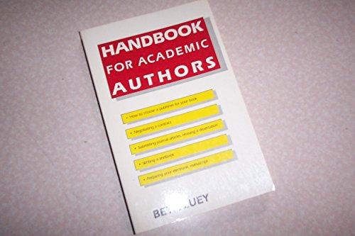 9780521336826: Handbook for Academic Authors