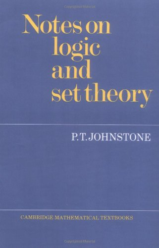 9780521336925: Notes on Logic and Set Theory