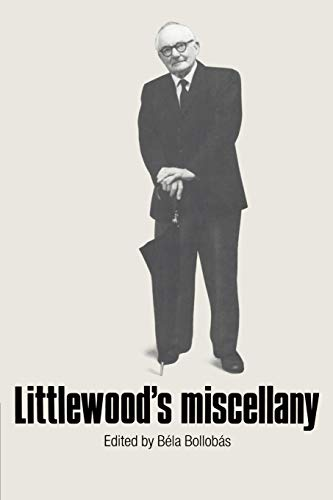 9780521337021: Littlewood's Miscellany