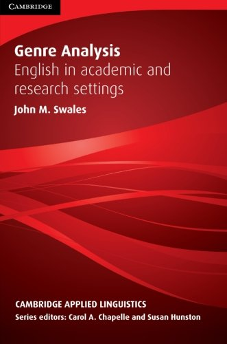 9780521338134: Genre Analysis: English in Academic and Research Settings (Cambridge Applied Linguistics)