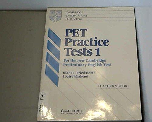 9780521338202: PET Practice Tests 1 Teacher's book