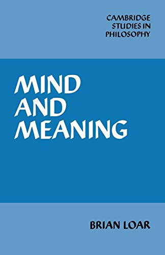 Mind and Meaning.: Loar, Brian