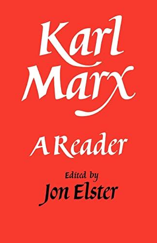 9780521338325: Karl Marx Paperback: A Reader