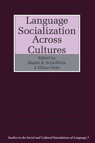9780521339193: Language Socialization across Cultures (Studies in the Social and Cultural Foundations of Language)