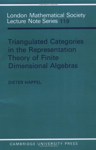 9780521339223: Triangulated Categories in the Representation of Finite Dimensional Algebras (London Mathematical Society Lecture Note Series)