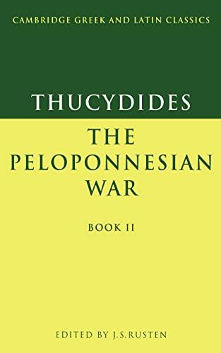9780521339292: Thucydides: The Peloponnesian War Book II (Cambridge Greek and Latin Classics) (Greek Edition)